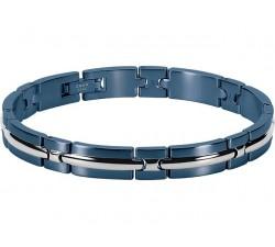Bracelet acier TRINIDAD 8mm Bicolore PVD bleu ROCHET B042286