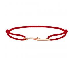 Bracelet LOVE 33mm Acier PVD rose avec lien Cordon 1mm Rouge ROCHET B216905