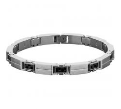 Bracelet RALEIGH Acier/Carbone 7,5mm ROCHET B54070