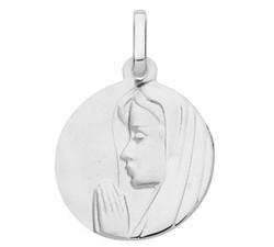 Médaille vierge profil gauche or gris 375/1000 by Stauffer