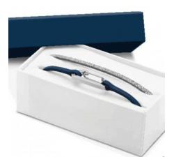 Coffret Bracelet KIM Boudeuse Acier/PU Pailleté gris 3mm ROCHET CBO25600112M