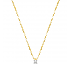 Collier or bicolore 750/1000 et diamants 0,072 carat by Stauffer