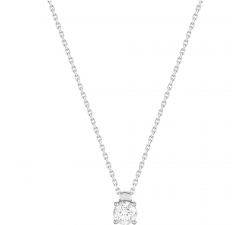 Collier or gris 750/1000 et diamant 0,40 carat by Stauffer