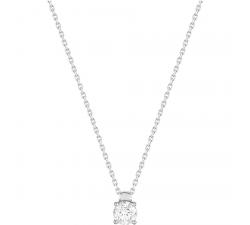 Collier or gris 750/1000 et diamant 0,40 carat by Stauffer
