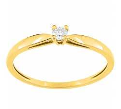 Bague or jaune 750/1000 et diamant 0,072 carat by Stauffer