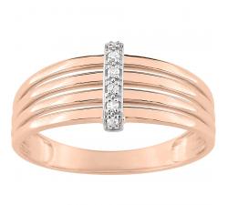 Bague or bicolore 750/1000 et diamants by Stauffer