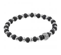 Bracelet acier et onyx GREENTIME ZWB227C