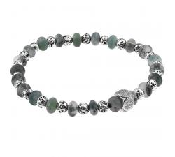 Bracelet acier et agate GREENTIME ZWB227A