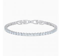 Bracelet Tennis Deluxe, blanc, métal rhodié Swarovski 5513401