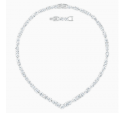 Collier en V Tennis Deluxe Mixed, blanc, métal rhodié Swarovski 5556917