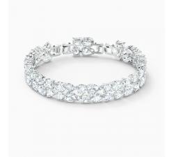 Bracelet Tennis Deluxe Mixed, blanc, métal rhodié Swarovski 5562088
