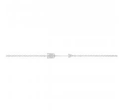 Bracelet argent 925/1000, flèche et oxydes de zirconium by Stauffer