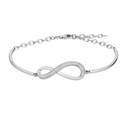 Bracelet argent 925/1000, infini et oxydes de zirconium by Stauffer