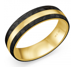 Alliance or jaune 750/1000, carbone by Stauffer