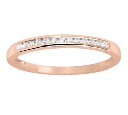 Alliance or rose 750/1000 et diamants 0,10 carat by Stauffer