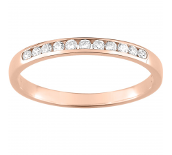 Alliance or rose 750/1000 et diamants 0,15 carat by Stauffer