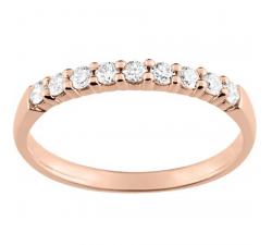 Alliance or rose 750/1000 et diamants 0,23 carat by Stauffer