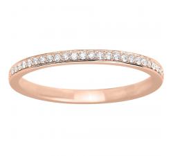 Alliance or rose 750/1000 et diamants 0,13 carat by Stauffer