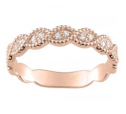 Alliance or rose 750/1000 et diamants 0,05 carat by Stauffer