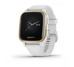 Montre Garmin Venu® Sq White/Light Gold avec bracelet silicone White 010-02427-11