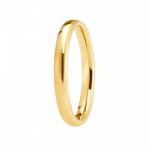 Alliance or jaune 750/1000, mi-jonc unie largeur 2,5 mm