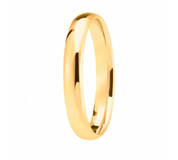 Alliance or jaune 750/1000, mi-jonc unie largeur 3,5 mm
