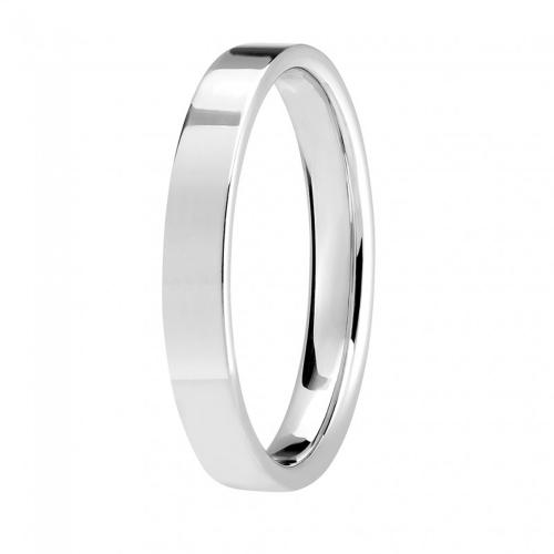 Alliance or gris 750/1000, ruban plat largeur 3,5 mm