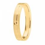 Alliance or jaune 750/1000, liseret et cercles largeur 4 mm