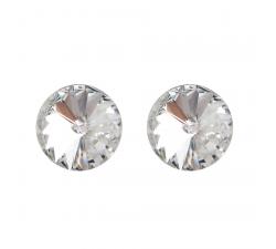 Boucles d'oreilles argent 925/1000 et Swarovski elements Indicolite PU-EMI-001