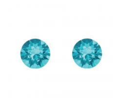 Boucles d'oreilles argent 925/1000 et Swarovski elements Indicolite PU-RON-202