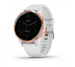 Montre Garmin vívoactive 4s Rose Gold avec bracelet silicone blanc 010-02172-22