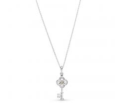 Collier clé Bicolores argent 925/1000 et or 585/1000 Pandora 399339C01-70