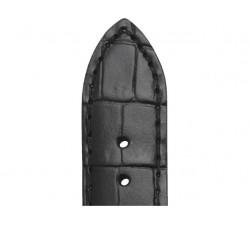 Bracelet de montre Veau Grain Alligator CHARLESTON Noir 20/18mm Mat 5492001ST