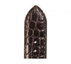 Bracelet de montre Veau Grain Alligator FIRENZE Marron 22/18mm Brillant 5790803