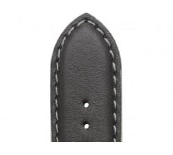 Bracelet de montre Veau NEPTUNE Noir 20/18mm Mat Etanche 7230721