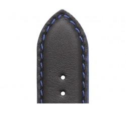 Bracelet de montre Veau NEPTUNE Noir 20/18mm Mat Etanche 7230761