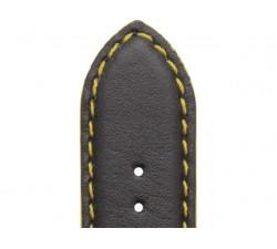 Bracelet de montre Veau NEPTUNE Noir 20/18mm Mat Etanche 7230791