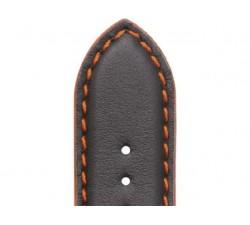 Bracelet de montre Veau NEPTUNE Noir 20/18mm Mat Etanche 7230799