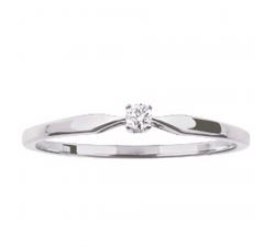 Bague or gris 375/1000 et diamant 0,04 carat by Stauffer