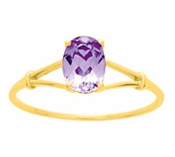 Bague or gris 375/1000 et amethyste by Stauffer