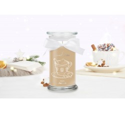 Bougie Creamy Cappuccino (Boucles d'oreilles) Jewel Candle 201359FR-B