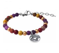 Bracelet STILIVITA en acier - Collection équilibre - ANTI-CONFINEMENT - améthyste - mookaite - charkra racine - SI 348