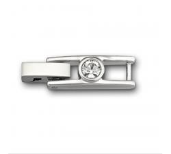 Fermoir Bracelet Tennis, blanc, métal rhodié Swarovski 1051897