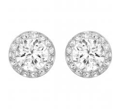 Boucles d'oreilles Angelic blanc, Métal rhodié Swarovski 1081942