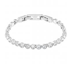 Bracelet Tennis blanc, métal rhodié Swarovski 1791305