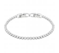 Bracelet Emily blanc, Métal rhodié Swarovski 1808960