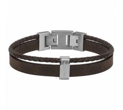 Bracelet acier, cuir nubuck PHEBUS FOR HIM 35-0977