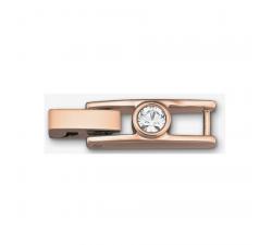Fermoir Bracelet Tennis, blanc, métal doré rose Swarovski 5044489
