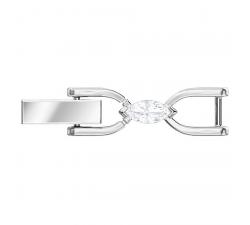 Fermoir Bracelet Louison, blanc, métal rhodié Swarovski 5450941