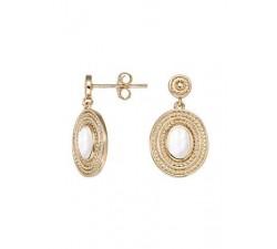 Boucles d'oreilles GO Mademoiselle plaqué or jaune 606562